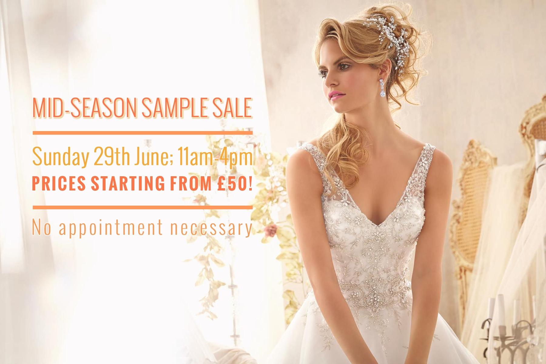 Mid-Season Bridal Sample Sale 2014