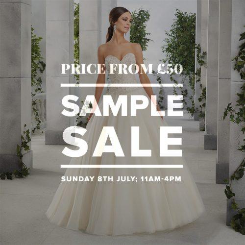 Wedding Dress Sample Sale July 2018