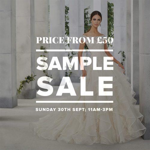 Wedding Dress Sample Sale September 2018