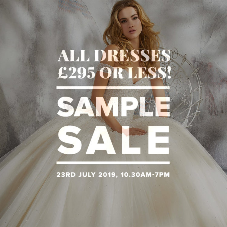 Mid Week Sample Sale - all dresses £295 or less!